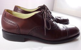 Bostonian Oxfords Mens Burgundy Brown Leather Cap Toe Shoes Size 11 D - $74.85