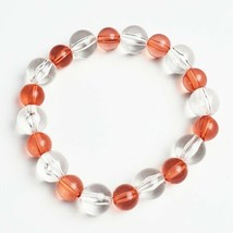 Handmade Beaded Stretch Bracelet Pink Clear Handcrafted Jewelry Gift for Her - $14.99