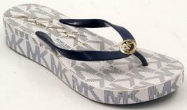 Michael Kors Bedford Women's Blue/White Wedge Flip Flops Sandals Sz 11 M Shoes - $37.99