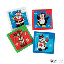 Holiday Slide Puzzles Party Favors Stocking Stuffers - £0.76 GBP