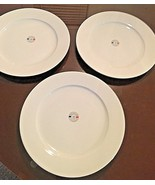 "3 PILLIVUYT APILCO WILLIAMS SONOMA FRENCH PORCELAIN 12"" DINNER DISH PLATES - $98.95"