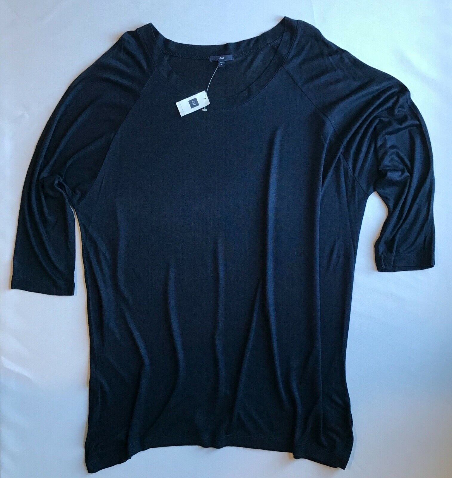 Primary image for Gap Crew Neck 3/4 Sleeve Top in Blue w/Dolman