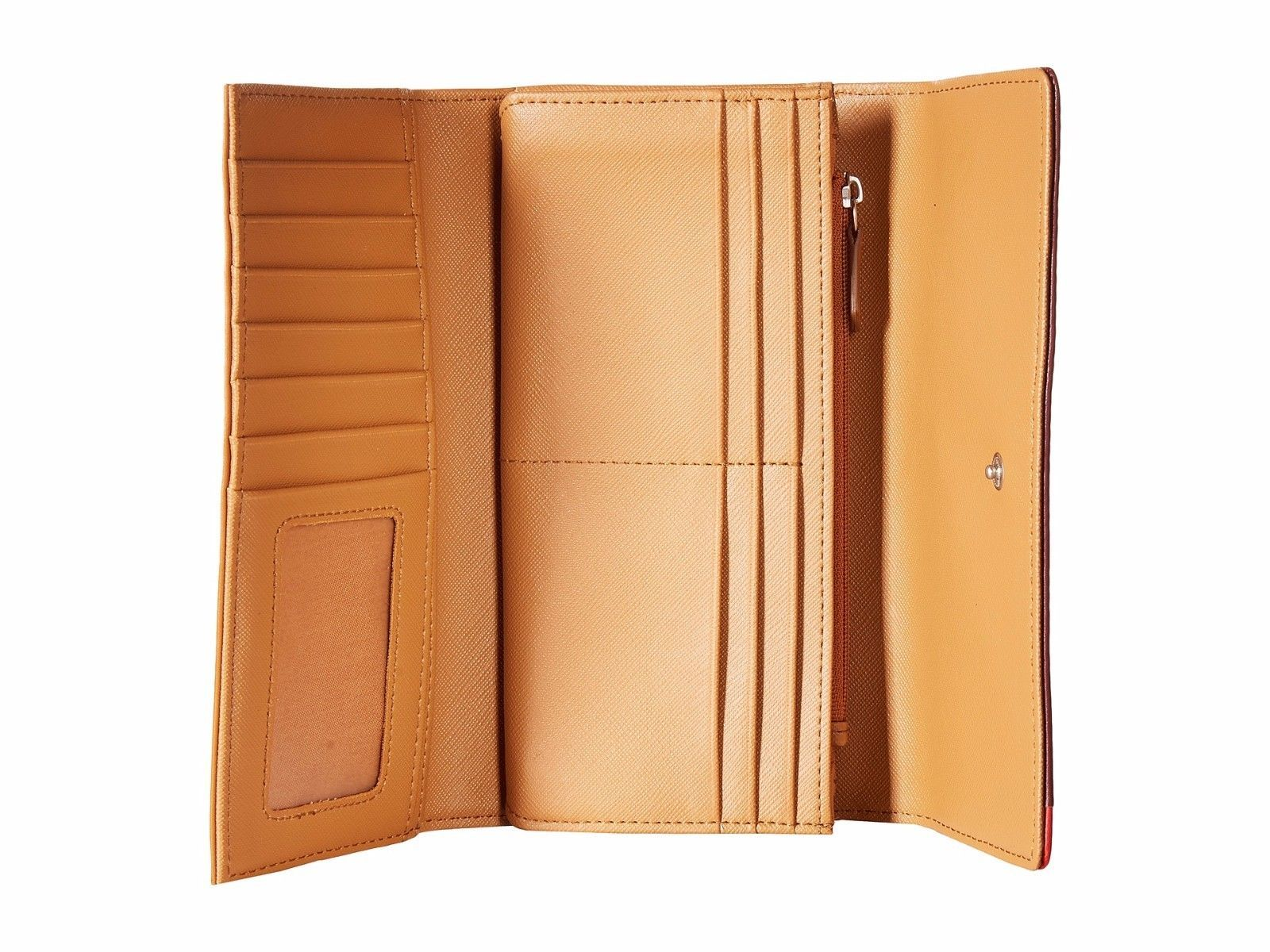 New Fossil Dawson Women Flap Leather Clutch Variety Color image 9