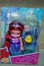 "My First Disney Petite Ariel 6"" Doll &  Her Pet Flounder New - $10.88"