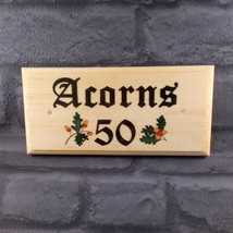 Personalised Acorn Sign, Acorns Plaque House Name Number Cottage Garden ... - $11.20