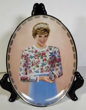 "8"" Porcelain Plate 1998 Lady Di Diana A True Princess Limited Edition Bradford - $14.24"