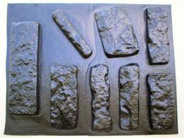 OKL-43 - 5 SETS OF CONCRETE LIMESTONE MOLDS (43) MAKE 1000s OF ROCK WALL VENEER image 2