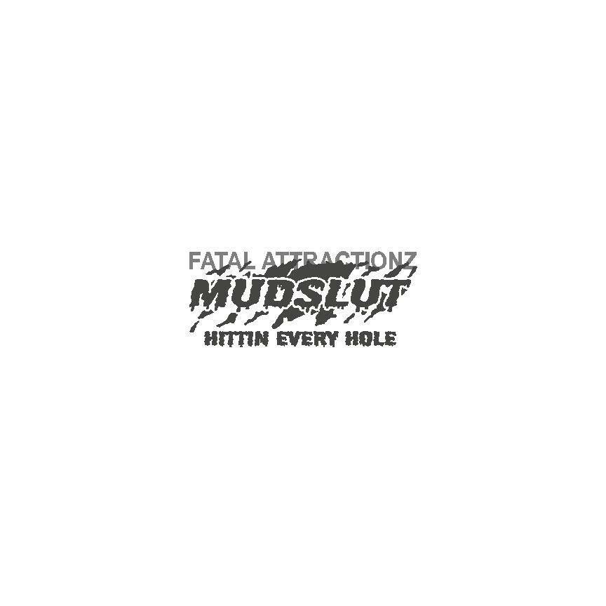MUDSLUT Hittin Every Hole Vinyl Decal Sticker 4x4 four wheeler mud dirt truck S
