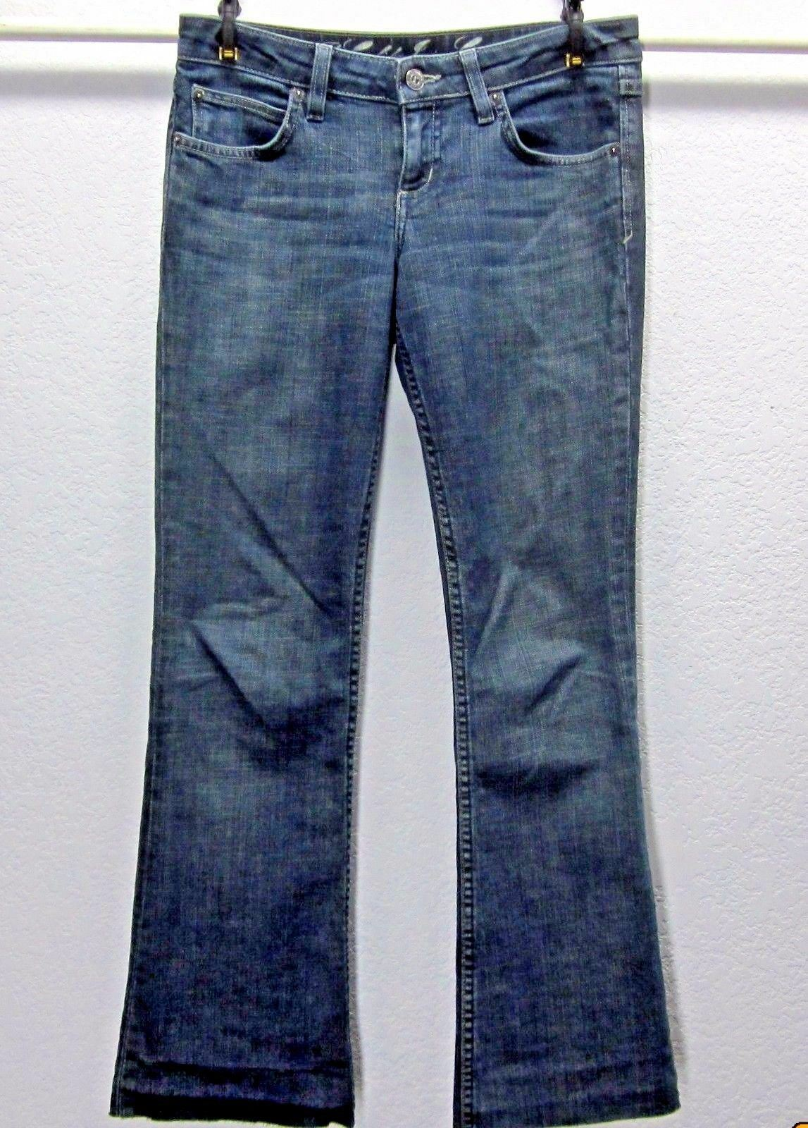 JUICY COUTURE THE CALI WOMEN'S BOOT CUT Sz 26 (29x27) DARK STRETCH BLUE JEANS image 1