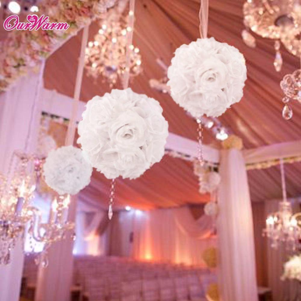 Rose flower ball artificial bouquet kissing ball for wedding centerpiece decorations valentine s