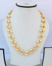 Indian Fashion Jewelry Ethnic Gold Plated Long Necklace 22k Light Chain ... - $10.93