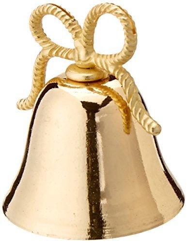 Kate Aspen Gold Kissing Bells Place Card/Photo Holder, Set of 24