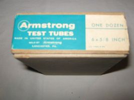 VINTAGE PHARMACY TEST TUBES (ARMSTRONG), PORCELINE DISH, AND PILL CRUSHER image 8