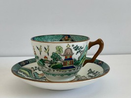 Crown Staffordshire Ye Olde Willow Cup and Saucer - $39.00