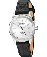 Citizen Women's Stainless Steel Japanese-Quartz Leather Calfskin Strap W... - $89.95