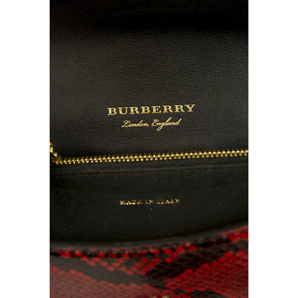 "Burberry Patchwork ""The Clandon"" one of a kind bag python snakeskin & check bag image 6"