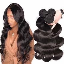 Brazilian Hair Body Wave 3 Bundles Unprocessd Brazilian Virgin Hair Remy... - $57.49