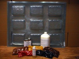 "15 DIY Driveway Paver Molds Supply Kit Makes 2.5"" Pavers For Pennies, Fast Ship image 1"