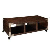 Standard Furniture Sullivan Cocktail Table on Casters in Brown Oak - $237.04