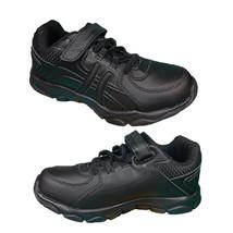 Boys Shoes Grosby Hoxton Black School Shoe Sneaker Hook and Loop Light S... - $36.07