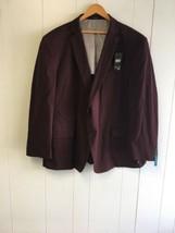 JF Men's Coat Cotton  Big & Tall Plum red 2XL  #J378 - $39.99