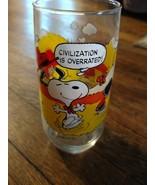 "Charles Schultz PEANUTS ""Camp Snoopy"" McDonalds Glass - $7.43"