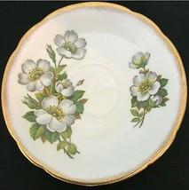 "Crown Staffordshire Fine Bone China Saucer England 5.5"" Diameter Pear Blossom - $9.59"