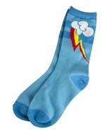 My Little Pony Rainbow Dash Cutie Marks Women's 9-11 Blue Socks, NEW UNUSED - $11.64