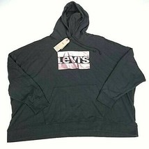 Levis Mens Hoodie Black Pullover Drawstring Long Sleeve Spell Out 4XL New - $29.10