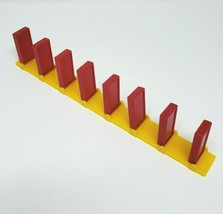 VINTAGE PRESSMAN DOMINO RALLY RED DOMINOES STRAIGHT YELLOW TRACK PIECES ... - $7.34