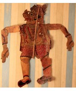 Antique figurine shadow puppet original 19th century collectible piece l... - $558.09