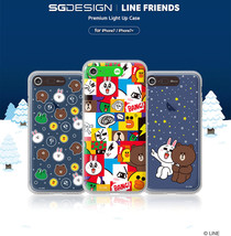 LINE Friends Premium Light UP Case iPhone 7 / 7 Plus Soft Cover Mobile S... - $48.98