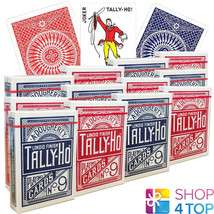 12 Jeux Bicycle Tally Ho Circle Playing Cartes Standard Indice Neuf - $80.76