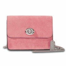COACH Bowery Grain Leather Crossbody(Glitter Rose) - $118.80