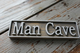 Man Cave-Wood Sign-Custom Handcrafted Sign-Wooden Sign - $18.70