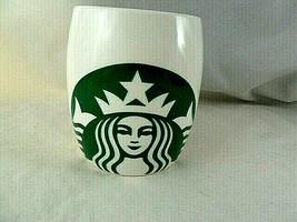 Starbucks 2010 Mermaid Siren Logo Classic Coffee Cup Mug Barrel White Green - $9.64