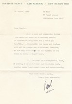 TYPED LETTER SIGNED BY PAUL HORGAN - American Pulitzer Prize-winning author - $74.25