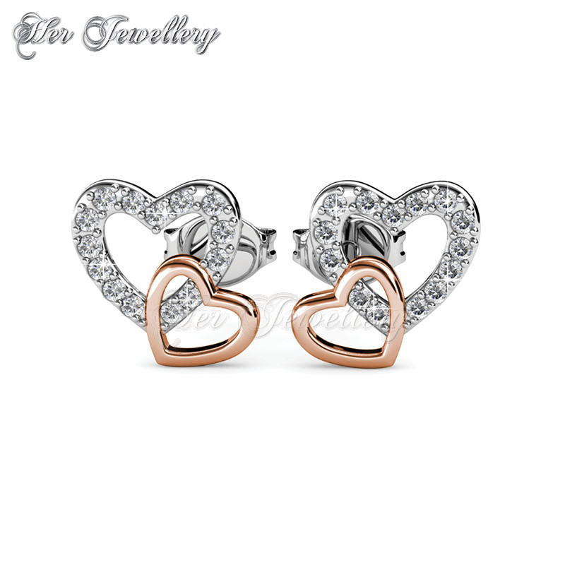Love with Rose Gold Earrings