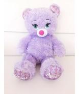 Build A Bear Disney Frozen Anna Purple Bear Plush Stuffed Animal BABW 16... - $13.28