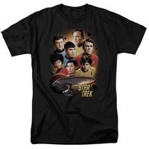 Star Trek Retro 60's Sci-Fi Original Crew Kirk & Spock graphic t-shirt CBS719 image 1