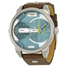 Diesel Men's DZ7321 Mini Daddy Watch With Brown Leather Band - $146.53 CAD