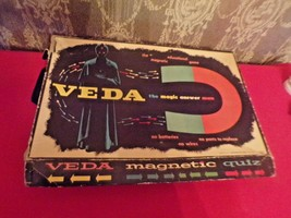 Vintage VEDA Magic Answer Man magnetic Quiz game-Pressman Toy Corp 2233 - $24.75