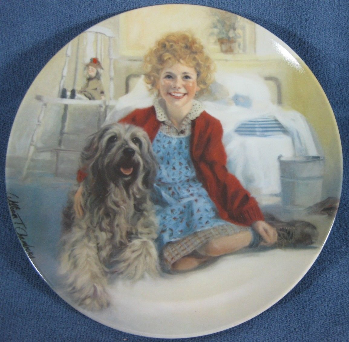 Annie and Sandy Little Orphan Annie Collector Plate William Chambers COA Vintage - $14.97