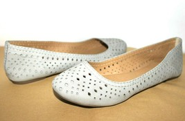 ❤️lucky Brand Emelisa Laser-Out Stone Leather Slip-On Flat 7.5 M Great! L@@K!O - $18.04