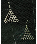 Metal Pyramid Earrings made with Nickel Free hooks - $5.40
