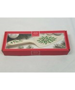 Lenox Holiday 11 Inch porcelain dessert server holly and berries - $25.68