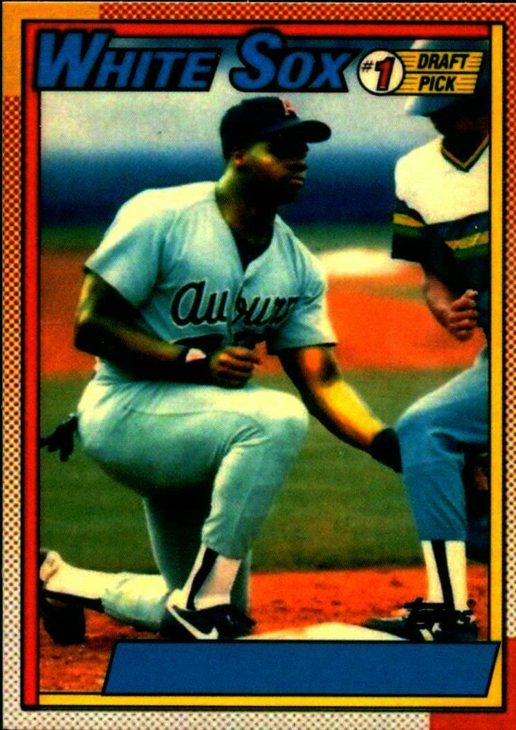 1990 Topps Frank Thomas No Name on Front NNOF Error REPRINT Rookie Baseball Card