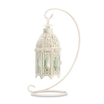 White Fancy Lantern W/stand 10037439 - $23.86