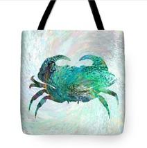 Tote bag All over print Design 41 Aqua turquoise crab digital art by L.D... - $29.99+