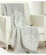 "Sferra Lassia Grey 100% Linen Decorative Throw Lightweight Italy 59x71"" New - $219.90"